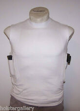 Concealment TShirt by Packin Tee Gun Holster Cotton Sleeveless Black or White
