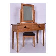 New Wiltshire Dressing Table With or Without Stool & Mirror in Oak & Oak Veneer