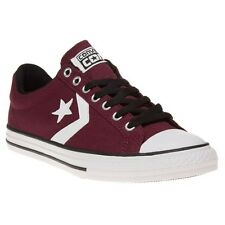 New Boys Converse Maroon Star Player Ev Ox Canvas Trainers Lace Up