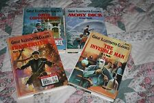 Great Illustrated Classics Lot~Frankenstein~Invisible Man~Moby Dick~Copperfield