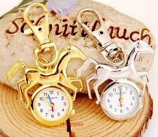 New Horse style Key Ring Pocket Watches boys girls lady kids xmas gifts USD48