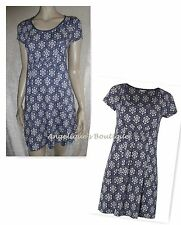 WHITE STUFF BUDAPEST NAVY BLUE FLORAL PRINT JERSEY TUNIC DRESS TOP SZ 8 - 18 NEW
