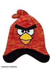 Childs ANGRY BIRDS RUST/ORANGE FLECK Knit - Black Lined Winter Hat  1-3  4-8 yrs