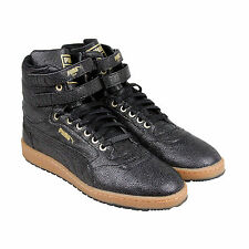 Puma Sky Ii Hi Bball Mens Black Leather Athletic Lace Up Running Shoes