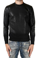 DIESEL BLACK GOLD Man Black Coated Sweatshirt New with Tags and Original