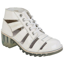 Womens Kickers Kopey Hi Cut Out Boots In White From Get The Label