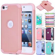 For iPod Touch 5th 6th Gen - Hard &Soft Rubber Hybrid Rugged Armor Skin Case