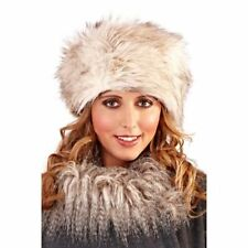 Chic Ladies  BLACK, BROWN or  2 TONE,  Winter warm Faux Fur  Russian Cossack Hat