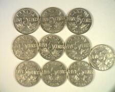 CANADA 1922-1936 FIVE CENT ALL KM29 COIN COLLECTION STARTER SET 10pc LOT ~CD5L2
