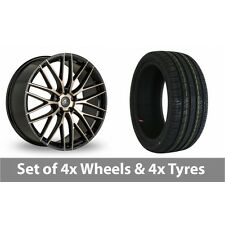 "4 x 19"" AC Wheels Syclone Black Alloy Wheel Rims and Tyres -  225/35/19"