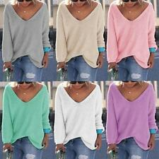 Lady Womens Casual Long Sleeve Knitwear Jumper Cardigan Jacket Sweater Pullover