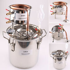 DIY Home Distiller Moonshine Still Water Alcohol Oil Wine Water Brewing COPPER