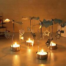 Rotary Spinning Carousel Tea Light Candle Holder Xmas Gift Table Decoration