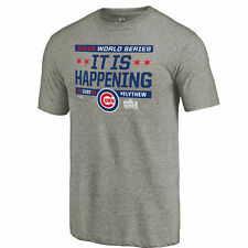 Chicago Cubs Gray It Is Happening Tri-Blend T-Shirt