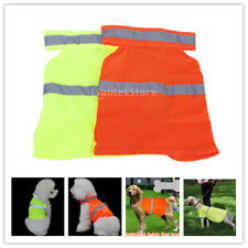 Fluorescent Adjustable Pet Dog High Visibility Safety Vest Clothes Apparel S-L