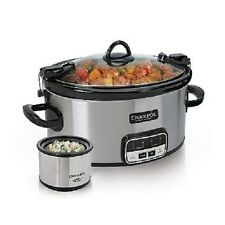 Crock-Pot 6 Quart Cook And Carry Slow Cooker With Little Dipper Warmer FREE SHIP