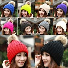 Womens Winter Cuffed Beanie Pineapple Hat Warm Knitted Adjustable Elastic Cap