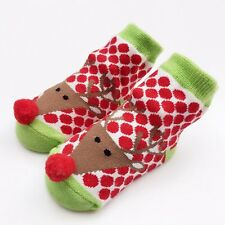 Newborn Baby Boy Girl Anti Slip Shoes Animal Cartoon Cotton Slipper Boots Socks
