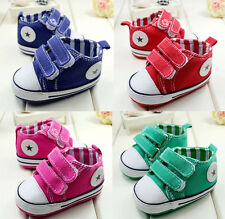 Fashion Baby Boy Velcro Soft Sole Crib Shoes Sneaker size6-15months Four Colors