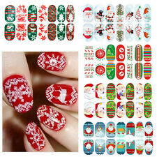 Christmas Nail Wraps Decal 3D Design Snowflake Elk Nail Art Tips Stickers Decor