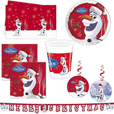 Disney's FROZEN Red Christmas OLAF Party Plates Napkins Cups Tableware Listing