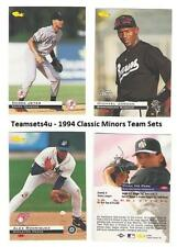 1994 Classic Minors Baseball Team Sets ** Pick Your Team Set **