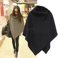 New Lady Women Batwing Poncho Winter Cardigan Coat Jacket Loose Cloak Cape Parka