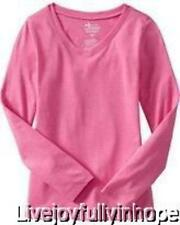 OLD NAVY ~ NEW NWT ~ Girls Size XS or M ~ Sweetheart PINK L/S V Neck Shirt
