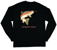 Rainbow trout long sleeve fishing shirt for men gift idea mens t-shirts