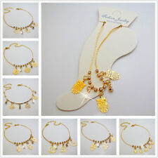 Free Gold Tone Crystal Sexy Chain Ankle Bracelet Anklets Beach Wedding JEWELRY