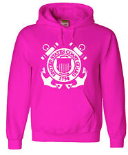 Pink Coast Guard sweatshirt Men's hoodie uscg us coast guard shirt gift idea
