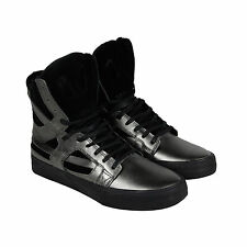 Supra Skytop II Mens Grey Black Textile High Top Lace Up Sneakers Shoes