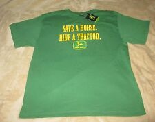 "NWT JOHN DEERE ""SAVE A HORSE RIDE A TRACTOR"" T-SHIRT MEN'S XL"