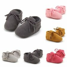 Baby Soft Sole Leather Shoes Newborn Girl Toddler Crib Moccasin Prewalker 0-18M