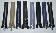 """5 - 6"""" # 5 Closed End PlasticTeeth Zippers - 8 Colors to Choose From"""