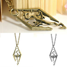 Dragon Pendant Charm Cool The Elder Skyrim Scrolls Logo Necklace Chain CHI