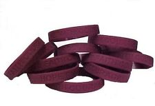 "Burgundy Awareness Bracelets Lot of 12 Silicone IMPERFECT Wristbands 8"" New"