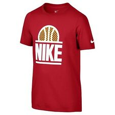 Brand New - Nike Boy's World Ball Athletic Training Basketball T-Shirt - Red