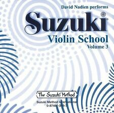 Suzuki Violin School Series: Suzuki Violin School, Vol 3  by David Nadien (CD)