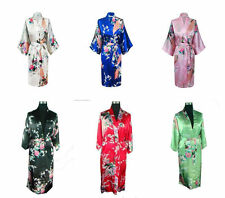 New Chinese Traditional Peacock Kimono Robe Geisha Dress Sleepwear Pajamas Robe