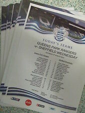 QPR 2013-2014 PRESS/TEAMSHEETS: CHAMPIONSHIP: CHOOSE FROM THE DROP DOWN LIST !!!