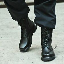 Mens Classic Army Military Lace Up Fur Lining Winter Tactical Ankle Boots Size