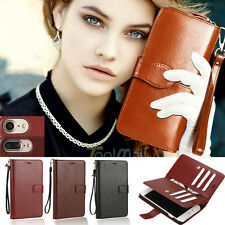 For Apple iPhone 7 / 7 Plus PU Leather Credit Card Holder Wallet Flip Case Cover