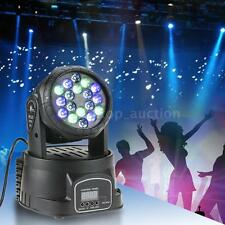 18x3W LED 3/9CH RGB Moving Head Light Wash Effect Stage Lamp DMX-512 Party P1W8
