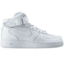 Nike Air Force 1 One Mid 07 Men's High Shoes White Shoes Leather NEW dunk