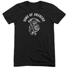 Sons Of Anarchy Soa Reaper Mens Tri-Blend Short Sleeve Shirt BLACK