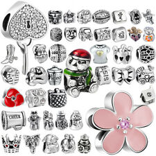 European Charm Bead Pendant Spacer For 925 Sterling  Jewelry Lot Silver Bracelet