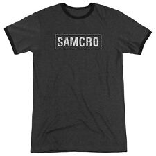 Sons Of Anarchy Samcro Mens Adult Heather Ringer Shirt Charcoal