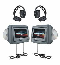 "Power Acoustik HDVD-9GR 9"" LCD Monitors with DVD Player Gray Leather HDVD9GR"