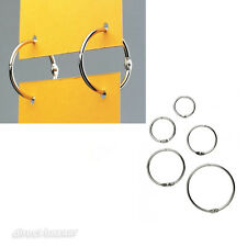 100 x Metal Nickel Split hanging Rings /sizes: 20 / 25 / 32 / 38 / 50mm Diameter